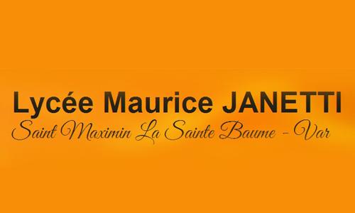 Logo Lycée Maurice Janetti Saint-Maximin de la Saint Baume  (83)
